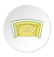Soccer goal icon cartoon style vector image