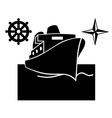 Ship on the water vector image