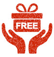 give present grunge icon vector image