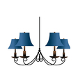 A view of chandelier vector image