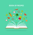 Book of recipes concept vector image