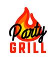 color vintage grill party emblem vector image