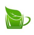 Cup of green bio beverage vector image