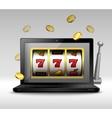 Online gambling concept vector image