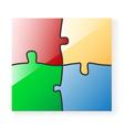 puzzle color vector image