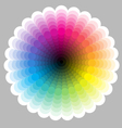Color circle chart vector image