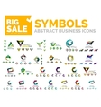 Abstract geometric business icons logos vector image