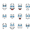 Emotions with eyes vector image
