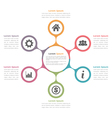 Circle Diagram with Six Elements vector image