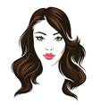 girl hair brunette vector image vector image