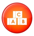 Alphabet cubes with letters ABC icon flat style vector image