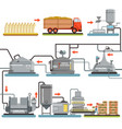 beer brewing process production of beer vector image