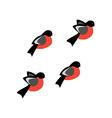 Bullfinch bird vector image