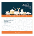 business template with cute hand drawn kitchen vector image