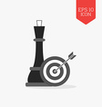 Chess queen and target with arrow icon Strategy vector image