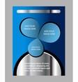 Creative Flyer blue color vector image