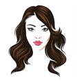 girl hair brunette vector image