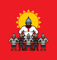 russian warrior vector image