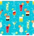 Seamless pattern with alcohol cocktail drinks vector image