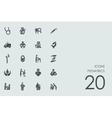 Set of pediatrics icons vector image
