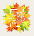 teachers day card vector image