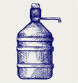 Bottle water vector image
