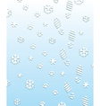 foot prints on the snow vector image