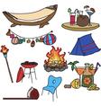 camping vector image
