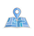 abstract city map with pointer vector image