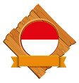 flag of indonesia on wooden board vector image vector image