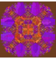 Oriental mandala motif lace vector image vector image