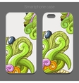 Smartphone case design green abstraction vector image
