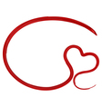 painted heart shape vector image vector image