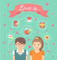 Dating Conceptual with Love Icons vector image