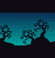 halloween scary tree background collection vector image