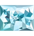 low poly background Blue winter polygonal vector image