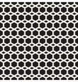 Seamless Black And White Hexagon Grid vector image