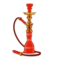 Shisha with pipe vector image
