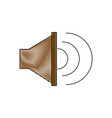 sound music volume speaker stereo symbol vector image