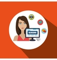 woman blogs web vector image