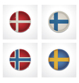 Euro flags vector image