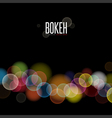 Abstract background and Blurred Lights on black ba vector image