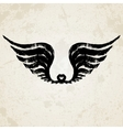 Silhouette of wings ink drawing vector image vector image