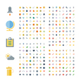 Flat design icons for business and technology vector image vector image
