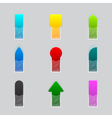 Set of colorful ribbon vector image vector image