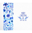 Merry Christmas hand drawn seamless pattern vector image