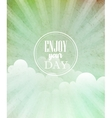blue vintage grungy background with sun vector image vector image