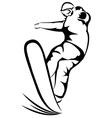 Snowboarder sketch vector image