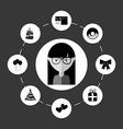 avatar female vector image