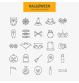 Line Halloween Icons Big Set vector image